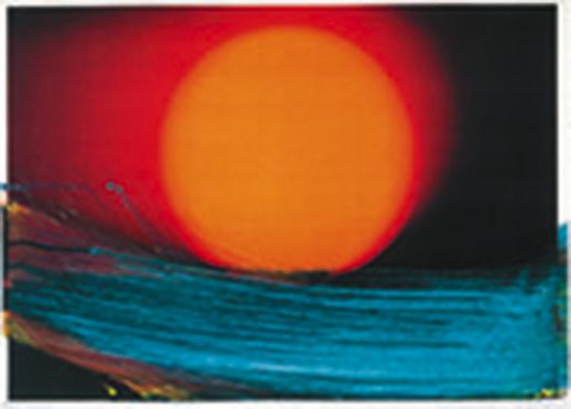 Arnulf Rainer - Mariposa 2003, Foto-Scan, Übermalung, 40 x 29 cm, Unikat. © Galerie A®tlantis